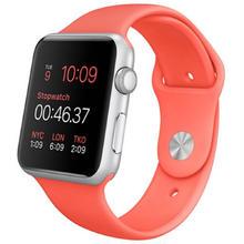 大特価Apple Watch Sport 42mm シルバーアルミニウムケースとピンクスポーツバンド …