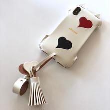 【1点物】abicaseXSJCAT/iPhoneX用シンプルジャケット猫/白