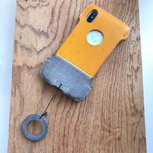 【アウトレット】iPhoneX用イタリアンオイルレザー製シンプルジャケット/B