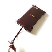 予約受付【バーガンディコードバン製】iPhone 7  sj  シンプルジャケット