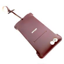 【バーガンディコードバン製】Phone 6s Plus cwj cordovanレザーウォレットジャケット