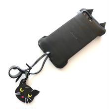 【1点物】iPhone8Plus用 黒猫アビケース