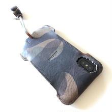 【予約受付】abicaseXWJ/iPhoneX用/カモフラカモフラツートンウォレットジャケット