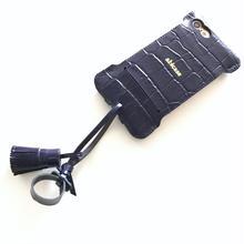 1点物【abiwork】iPhone7 nswj  クロコ型押しタッセルジャケット