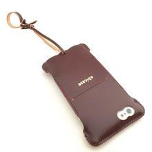 予約受付【バーガンディコードバン製】iPhone 6s cwj cordovan ウォレットジャケット