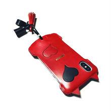 【Le Rouge et le Noir】abicaseXSJCAT/iPhoneX用シンプルジャケット猫/赤黒