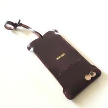 予約受付【バーガンディオイルコードバン製】Phone 6s Plus cwj cordovanレザーウォレットジャケット