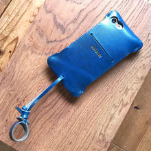 【1点在庫あり】iPhone7 swj /ルガトブルー  お財布ジャケット