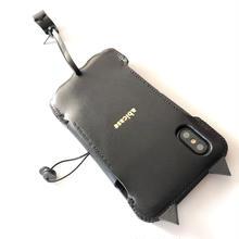 abicaseFLAP/iPhoneX用/黒猫手帳ジャケット