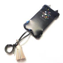 【1点限定アウトレット】iPhoneSE用黒猫ウォレットジャケット