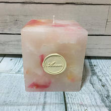 Sikaku Candle (Pink & Orange)
