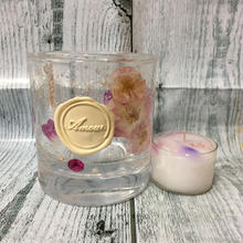 Glass Candle Holder (Mini Rose & Pink)