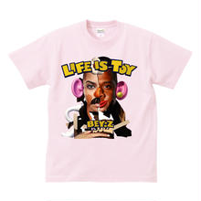 SS TEE  LIFE IS TOY / LIGHT PINK