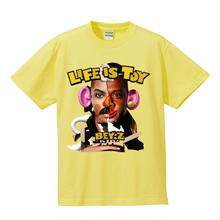 SS TEE  LIFE IS TOY / LIGHT YELLOW