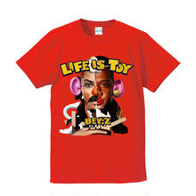 SS TEE  LIFE IS TOY / RED