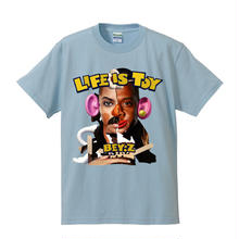 SS TEE  LIFE IS TOY / LIGHT BLUE