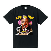SS TEE  LIFE IS TOY / BLACK