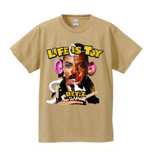 SS TEE  LIFE IS TOY / LIGHT BEIGE