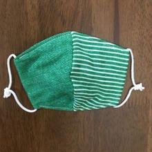 デニム風 ボーダー green baby mask