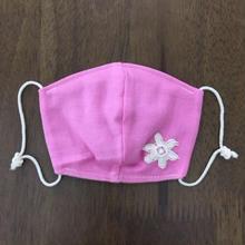 pink フラワー モチーフ baby mask
