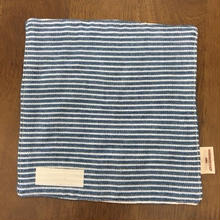 デニム風 ボーダー mini handkerchief