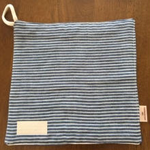 デニム風 ボーダー handkerchief  (濃い)