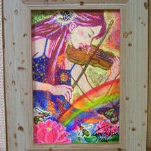 愛の広がりプロジェクト第3弾 No.6【バイオリンを弾く女性の絵】