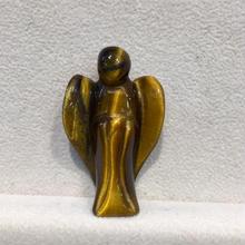 ミニサイズ タイガーアイ天使 手彫りの守護天使1