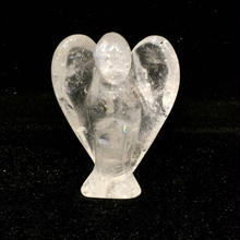 水晶エンジェル 手彫りの守護天使4