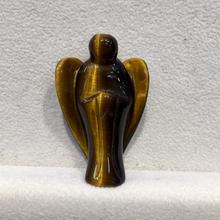 ミニサイズ タイガーアイ天使 手彫りの守護天使2