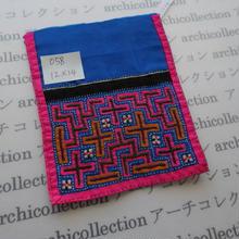 モン族の襟飾り no.58 12x14 cm  Hmong embroidery needlework はぎれ ラオス タイ