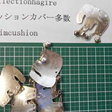 山岳民族 手芸用ニッケル象 elephant 40x40mm no.29 1個 色金属ビーズ アーチコレクション archicollection