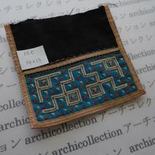 モン族の襟飾り no.60  14x13 cm  Hmong embroidery needlework はぎれ ラオス タイ