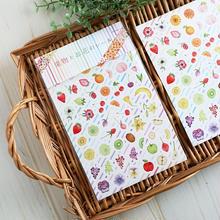 果物とお花のシール2枚セット