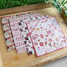 いちごのデザインペーパー♡折り紙サイズ