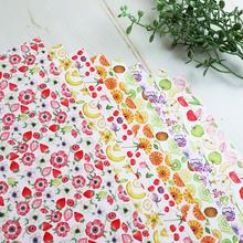 果物とお花のつぎはぎ☆A4デザインペーパー