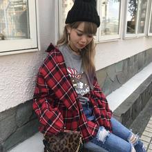 袖ゴムcheckネルシャツ