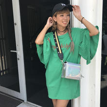 リボン付き♡袖フリフリCUTチュニック