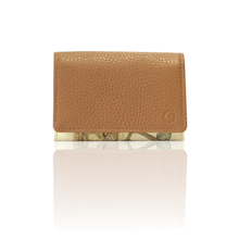 "made in Ryogoku ""粋"" HOKUSAI  Card case   (camel)"
