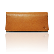 "made in Ryogoku ""粋"" HOKUSAI  Long Wallet  (Natural Brown)"