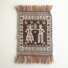 ヤノフ村の織物 タペストリー マズルカを踊る男女 #1178
