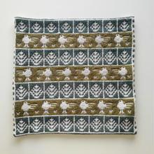 ヤノフ村の織物 クッションカバー 鳥と幾何学模様(39×39cm) #1395
