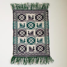 ヤノフ村の織物 タペストリー スワンと花 #834