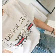 (即納)ルーズメッセージTシャツ