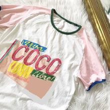 (即納)ピンクCoco Tシャツ ladies
