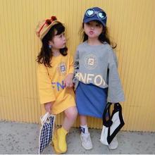 ★プリントロゴTシャツワンピ★2カラー