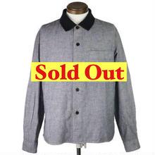 MHL(エムエイチエル)ブラックシャンブレーシャツ
