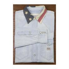 DENIM & SUPPLY(デニムアンドサプライ) ユーズド加工 シャンブレーシャツ