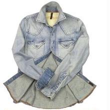 Nudie Jeans(ヌーディージーンズ) ユーズド加工 デニムシャツ
