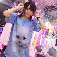 ねこちゃんフェイスTシャツ/select